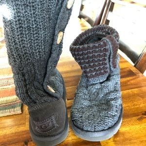 Ugg sweater boots...gray, size 8.5